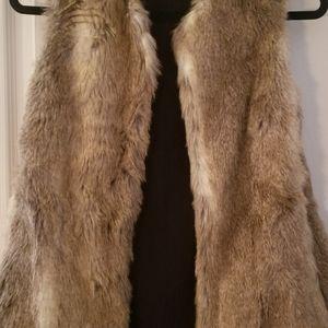 Zara synthetic fur vest